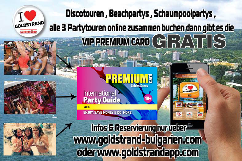 Goldstrand Golden Sands 3 Partytouren